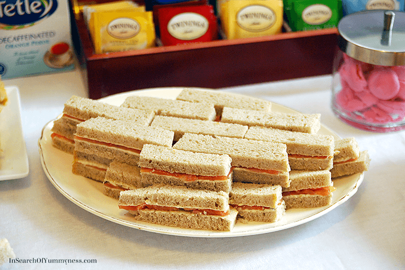 Smoked Salmon Tea Sandwiches | InSearchOfYummyness.com