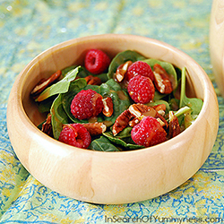 An Easy Baby Spinach Salad