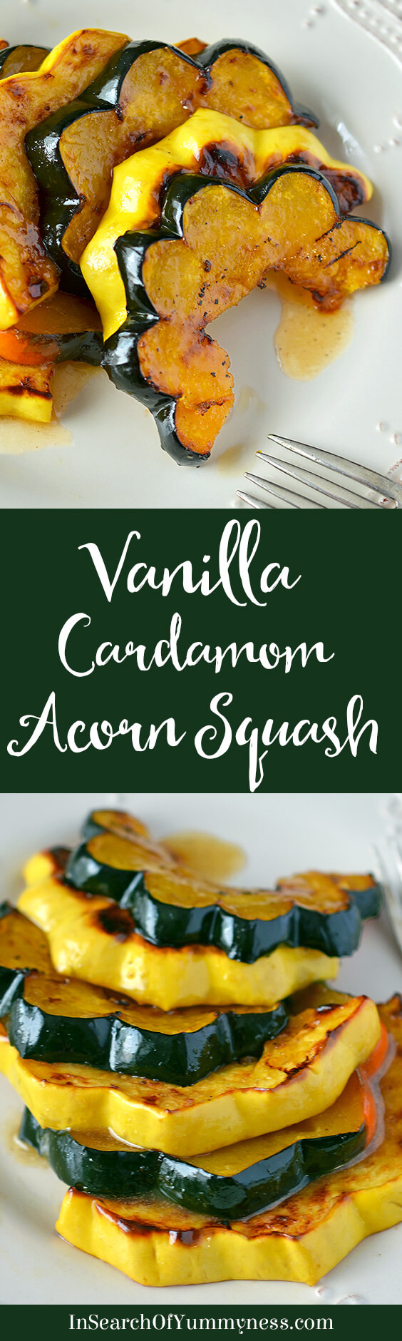 If you're looking for a unique side dish for Thanksgiving or Christmas this year, try this Vanilla Cardamom Glazed Acorn Squash #recipe from Susie Middleton.
