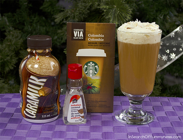 Ingredients for German Chocolate Cake Flavoured Coffee | InSearchOfYummyness.com