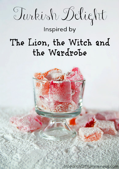 Turkish Delight Recipe inspired by The Lion, the Witch and the Wardrobe | InSearchOfYummyness.com