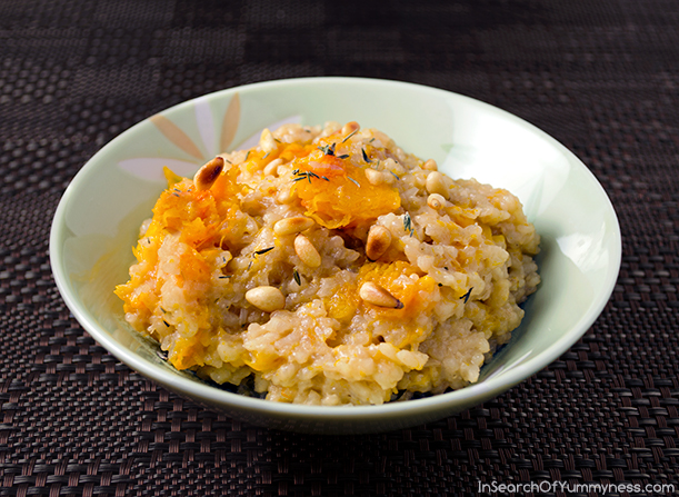 Roasted Butternut Squash Risotto from Fresh from the Farm | InSearchOfYummyness.com
