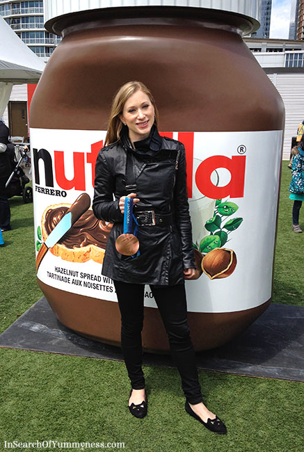 Joanne Rochette with her Bronze Medal at the Nutella Event in Toronto | InSearchOfYummyness.com