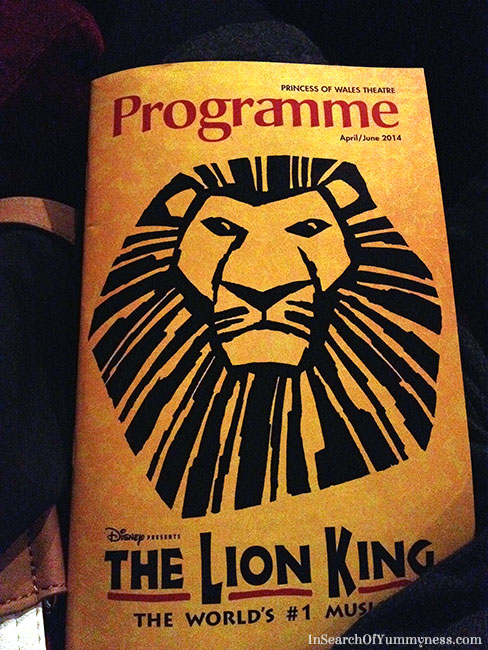 The Lion King Musical at Princess of Wales Theatre, Toronto | InSearchOfYummyness.com