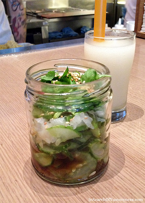 Marinated Cucumber and Seven Spice Sour Slushi from Momofuku Noodle Bar Toronto | InSearchOfYummyness.com