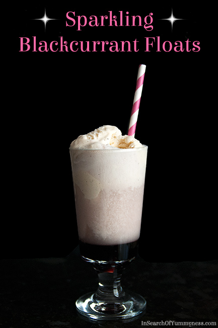Sparkling Blackcurrant Float | InSearchOfYummyness.com #ribena #icecream