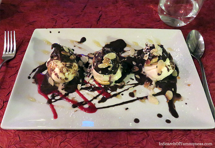 Hot Chocolate Profiteroles from La Villa Restaurant in St. Martin | In Search Of Yummy-ness