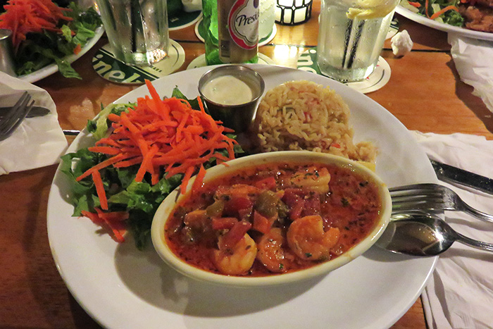 Shrimp Creole from SkipJack's Restaurant in St. Maarten | In Search Of Yummy-ness