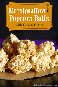 Marshmallow Popcorn Ball Recipe for Halloween