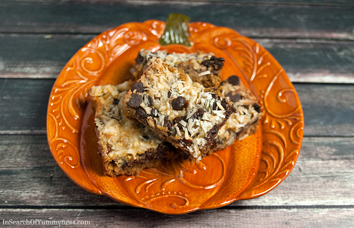 Pumpkin Spice Magic Cookie Bars | In Search Of Yummy-ness.com
