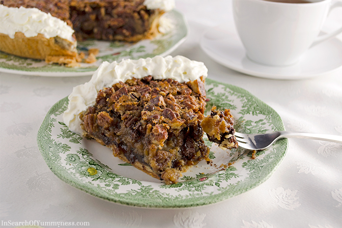 Chocolate Pecan Pie Recipe | In Search Of Yummy-ness