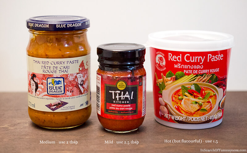 Thai Red Curry Paste Options | InSearchOfYummyness.com