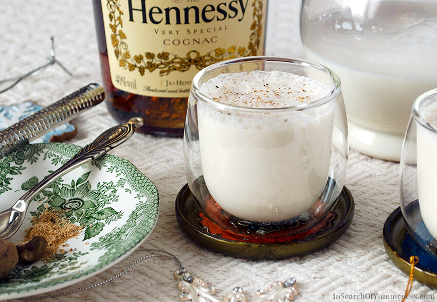 Eggless Eggnog Recipe | InSearchOfYummyness.com