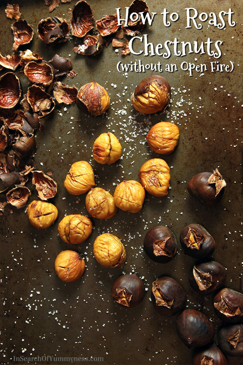 "Don't have access to an open fire? No problem! Learn how to roast chestnuts in your oven with my ""Ultimate Guide to Roasting Chestnuts"" on InSearchOfYummyness.com."