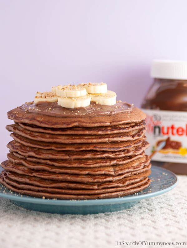 Nutella Pancakes with Mascarpone Cream | In Search Of...