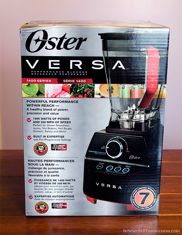 My thoughts on the Oster Versa Performance Blender | In Search Of Yummy-ness