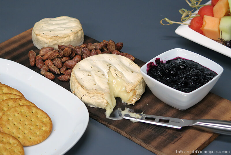 Smoked Brie with Blueberry Sauce | In Search Of Yummy-ness