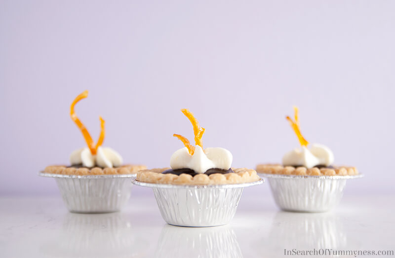 Chocolate Orange Tarts with Fresh Orange Cream | In Search Of Yummy-ness