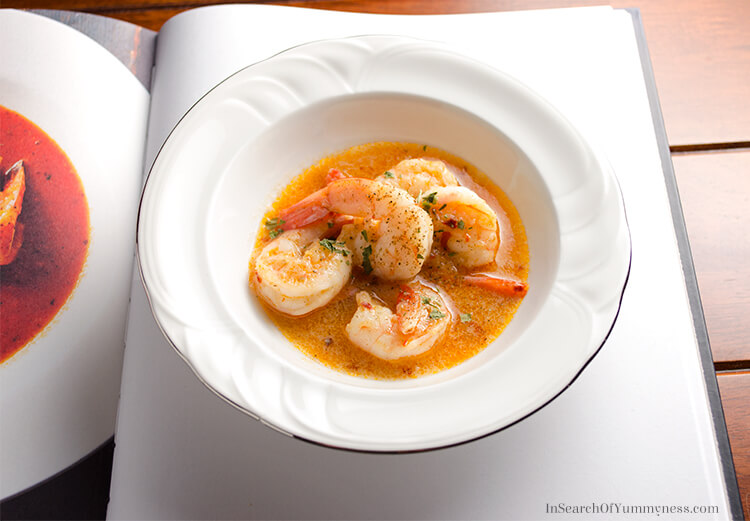 Garlic Shrimp from Tabülè restaurant. Find the recipe in the Toronto Cooks cookbook! | InSearchOfYummyness.com