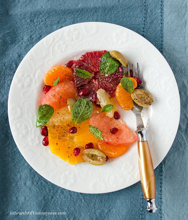 Citrus Salad from the Toronto Cooks cookbook! | InSearchOfYummyness.com