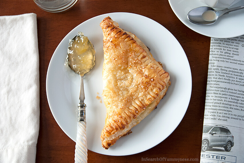 Pineapple Cream Cheese Turnover Recipe | InSearchOfYummyness.com