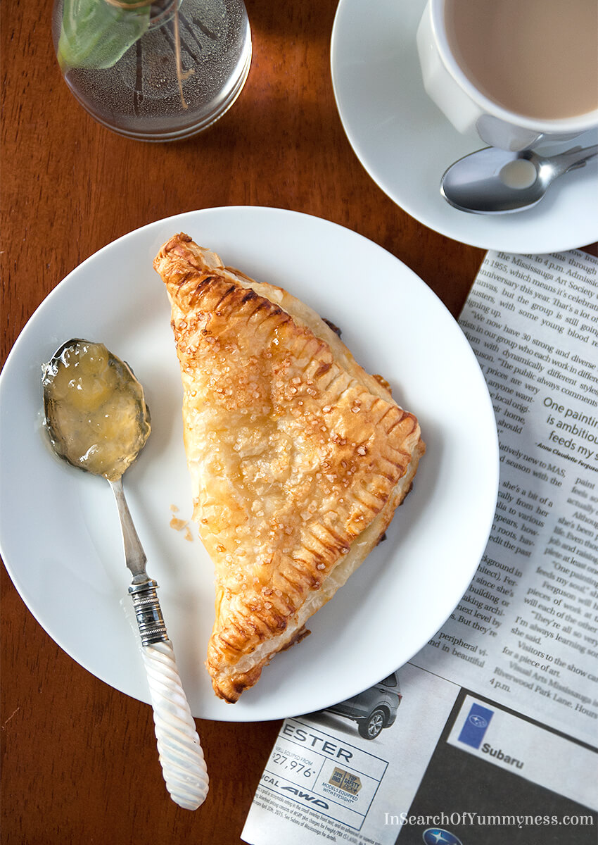 I had no idea that turnovers were so easy to make! I used Tenderflake puff pastry and filled each turnover with pineapple jam and plain cream cheese, yum! #AD
