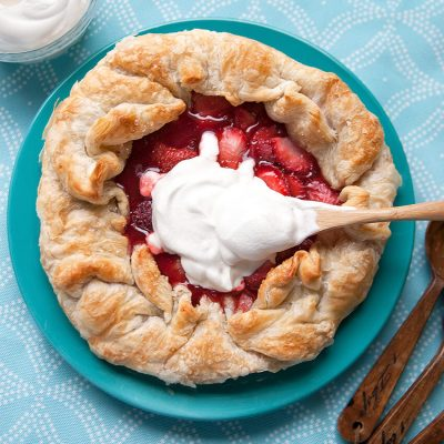 A Maple & Strawberry Galette