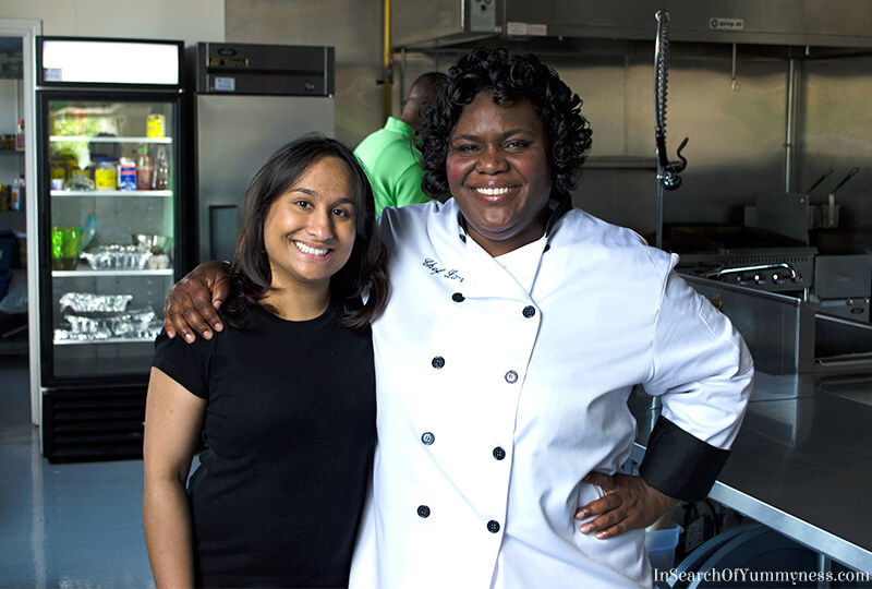 Chef Latoya Fagon and Shareba from In Search Of Yummy-ness
