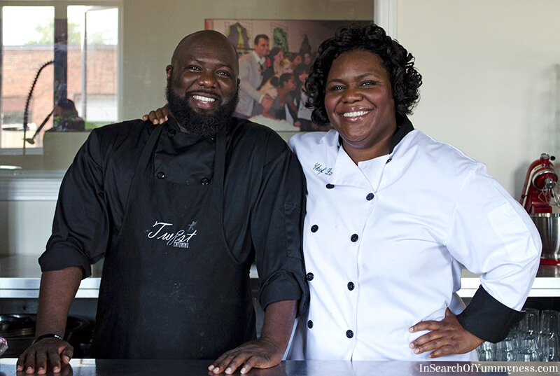 Chef Latoya Fagon and sous-chef Roger | InSearchOfYummyness.com