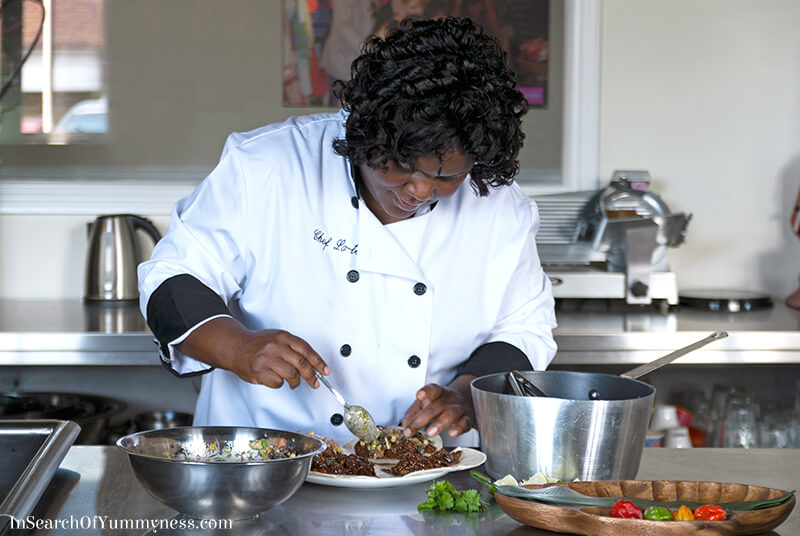 Chef Latoya Fagon at the Grace Foods Canada photoshoot | InSearchOfYummyness.com