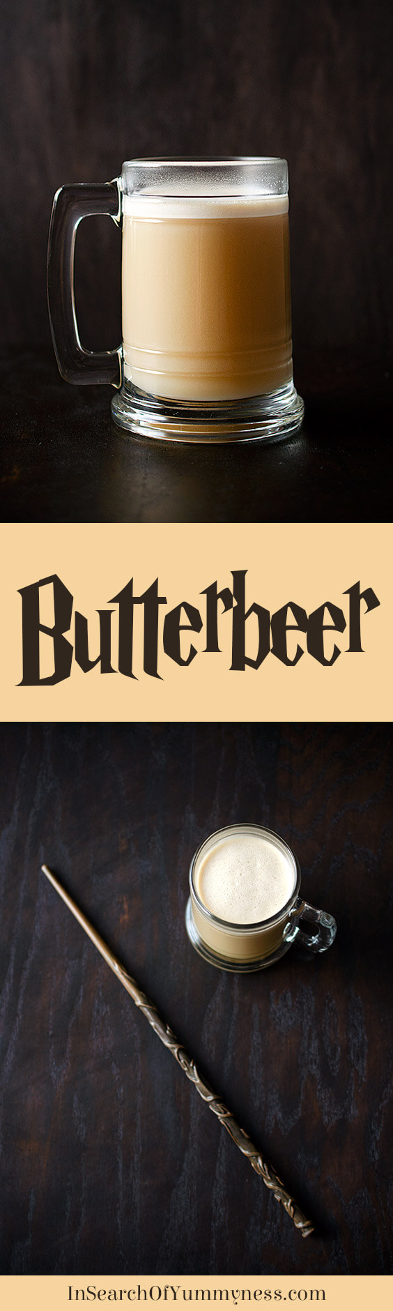 You don't have to travel to a Harry Potter theme park to enjoy Butterbeer! You can make this version at home with just a few ingredients. Get the recipe at InSearchOfYummyness.com