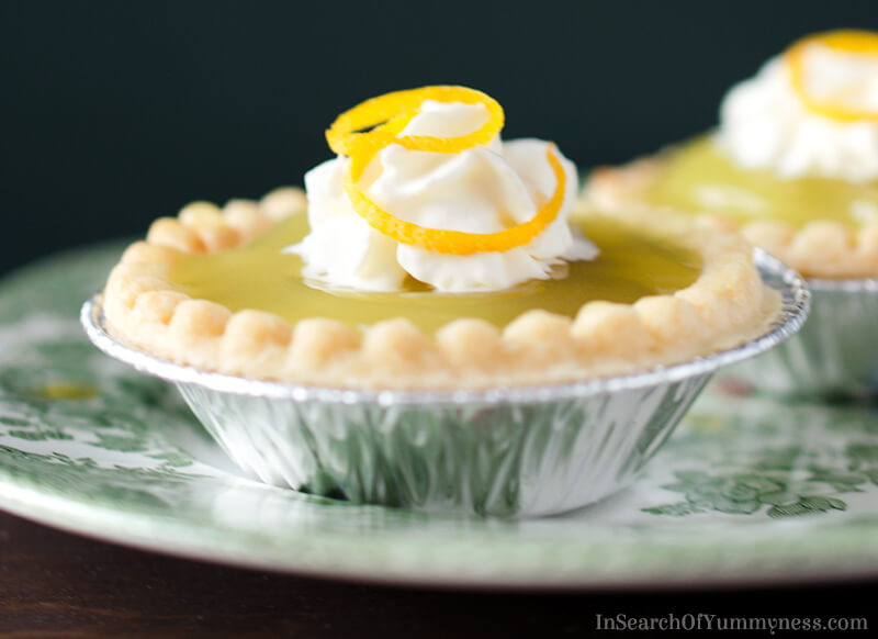 Lemon Strawberry Jam Tart Recipe | InSearchOfYummyness.com