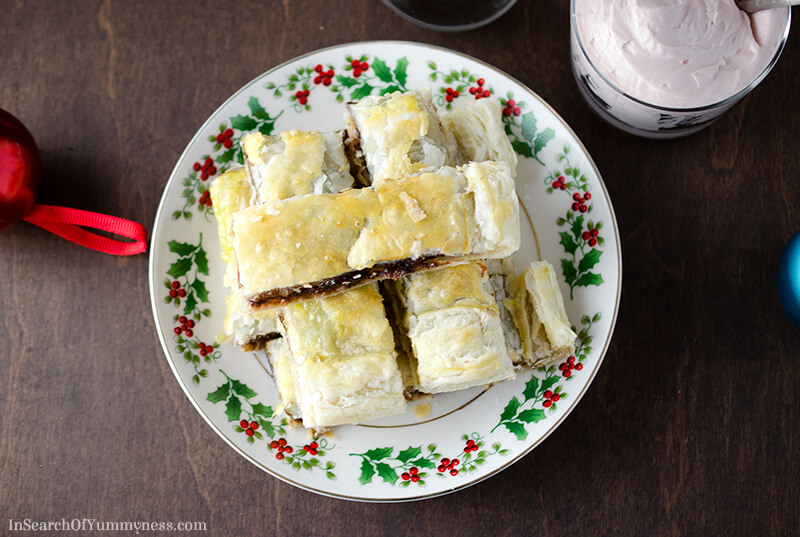 Mincemeat Pastry with Brandy Butter Recipe | InSearchOfYummyness.com