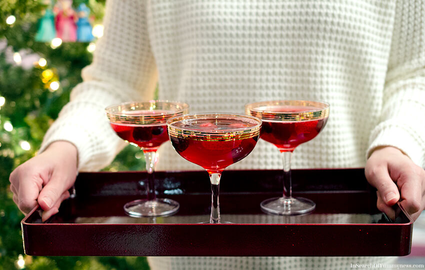 Sparkling Cranberry Punch Recipe | InSearchOfYummyness.com