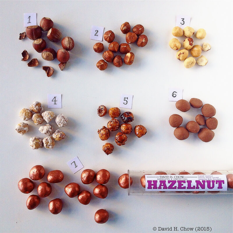 Dragee process to make David Chow's hazelnuts | InSearchOfYummyness.com
