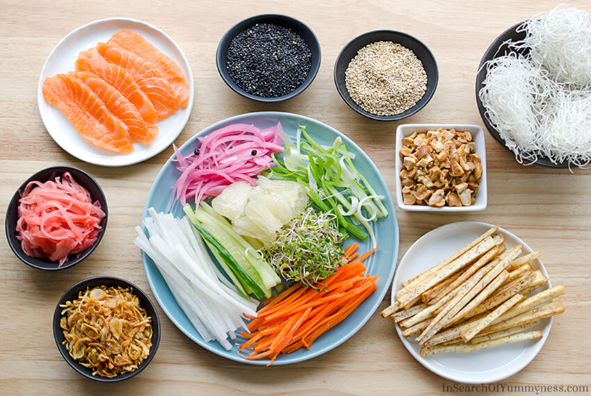 Ingredients for Singapore Slaw | InSearchOfYummyness.com