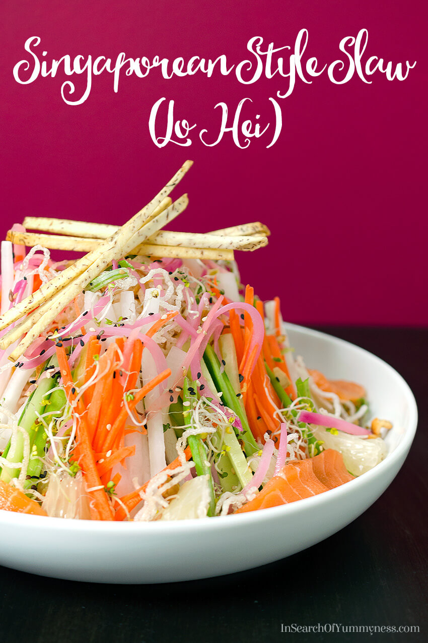 Celebrate the Lunar New Year with this Singaporean Style Slaw recipe, inspired by Chef Susur Lee's signature dish and traditional Lo Hei.