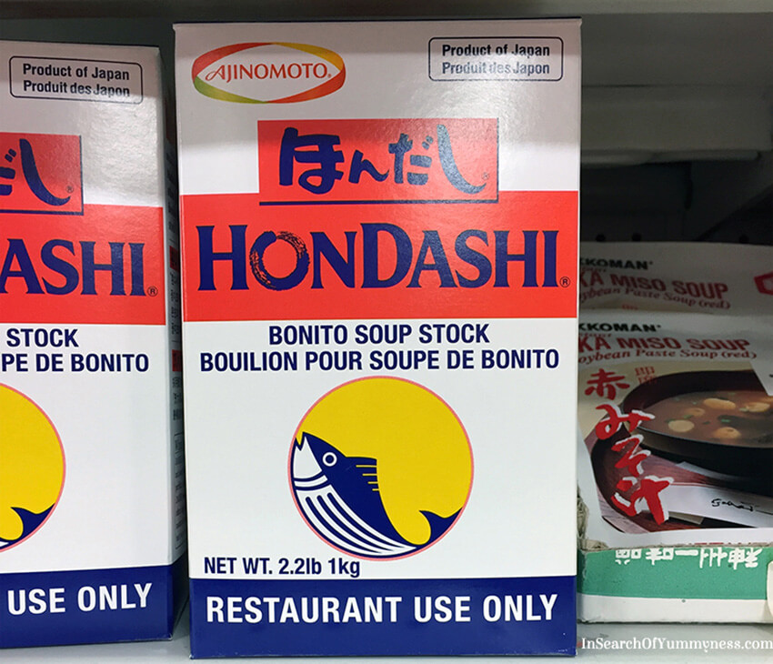 Hondashi is instant dashi powder which can be used to make Miso Soup | InSearchOfYummyness.com