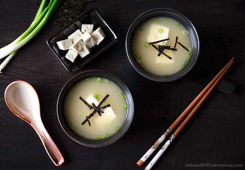 Easy Miso Soup without Dashi Recipe | InSearchOfYummyness.com