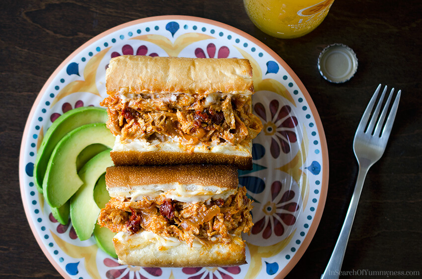 Chicken Tinga Sandwiches | InSearchOfYummyness.com
