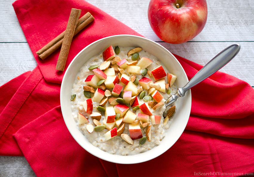 SweeTango Apple Oatmeal Breakfast Bowls | InSearchOfYummyness.com
