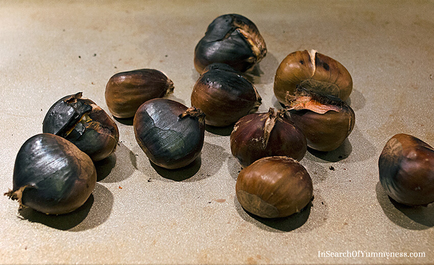 What burnt chestnuts look like | InSearchOfYummyness.com