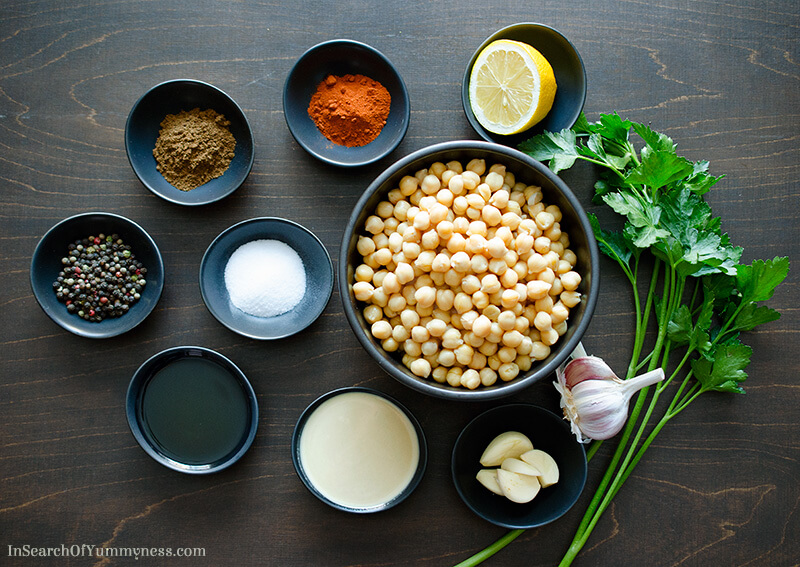Ingredients for Hummus | InSearchOfYummyness.com
