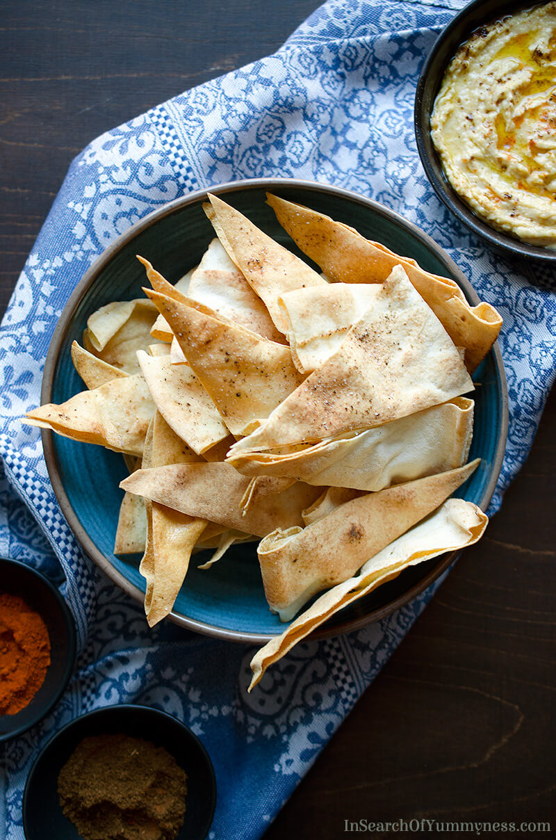 Homemade Pita Chips | InSearchOfYummyness.com