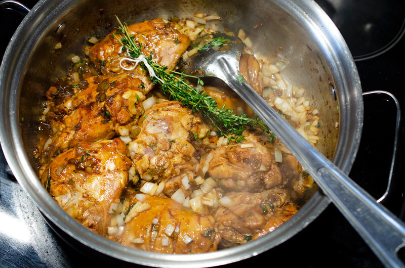 Making Trinidad Pelau with Chicken and Pigeon Peas | In Search Of Yummy-ness