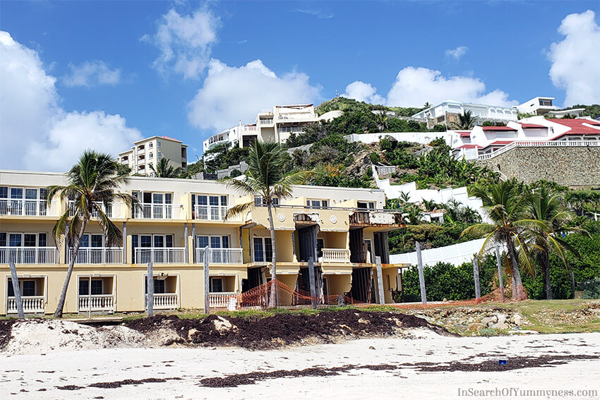What's left of the Westin Hotel in St. Maarten after Irma